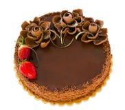 Chocolate cake isolated Stock Photo