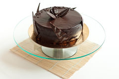 Chocolate Cake Isolated Petals Royalty Free Stock Photography