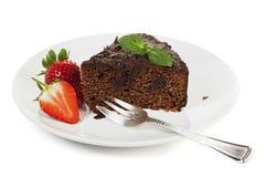 Chocolate Cake Isolated Stock Image