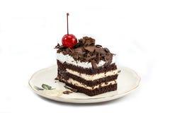Chocolate cake isolated on white background Stock Photos
