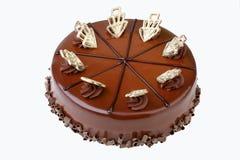 Chocolate cake isolated on white Stock Image