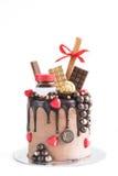 Chocolate cake isolated Stock Images