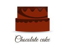 Chocolate cake isolated on white background. Stock Photos