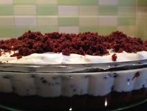 Chocolate cake. With light cream Royalty Free Stock Photos