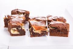 Chocolate cake with mascarpone. royalty free stock photo