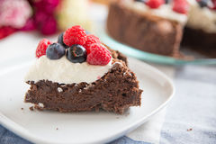 Chocolate Cake with mixed berries Royalty Free Stock Photos