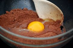 Chocolate Cake mixture Stock Image