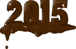 2015 Chocolate. Cake chocolate for new year Stock Illustration