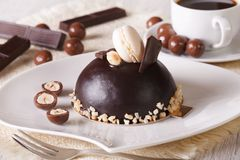 Nuts Cake On Plate Stock Photo - Image: 59147994