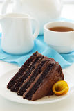 Chocolate cake with oranges Royalty Free Stock Photography