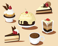 Chocolate cake and  Royalty Free Stock Image