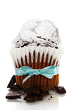 Chocolate cake over white background Royalty Free Stock Image