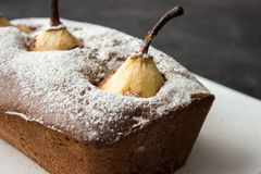 Chocolate cake with pear Royalty Free Stock Photo