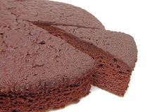 Chocolate cake-piece Stock Photo