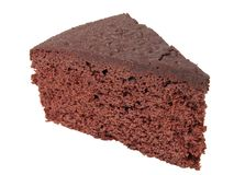Chocolate Cake Piece Stock Images