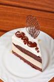 Chocolate cake piece Royalty Free Stock Photo