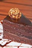 Chocolate cake piece Royalty Free Stock Image