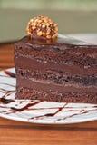 Chocolate cake piece Royalty Free Stock Photos