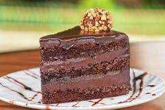 Chocolate cake piece Stock Photo