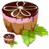 Chocolate cake with pink layer Royalty Free Stock Images