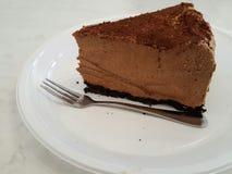 Chocolate cake on plate Stock Photos