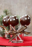 Chocolate cake pops decorated with stars Stock Photography
