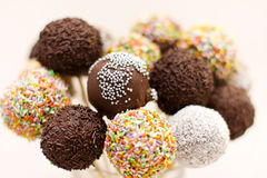 Chocolate cake pops Royalty Free Stock Images