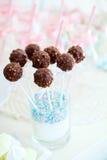 Chocolate cake pops Royalty Free Stock Photo