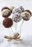 Chocolate cake pops Stock Photo