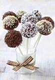 Chocolate cake pops Stock Photo