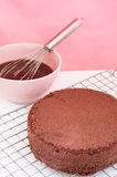 Chocolate cake preparation. Stock Photos