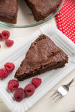Chocolate Cake with raspberries Royalty Free Stock Photography
