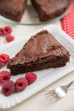 Chocolate Cake with raspberries Stock Image