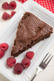 Chocolate Cake with raspberries Stock Photos
