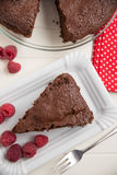 Chocolate Cake with raspberries Royalty Free Stock Photo