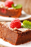 Chocolate cake with raspberry Royalty Free Stock Photography