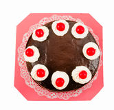 Chocolate cake with red Jelly Royalty Free Stock Image