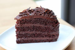 Chocolate cake. Relax time with chocolate cake on holiday Royalty Free Stock Photos