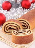 Chocolate cake roll Stock Image
