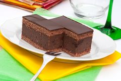 Chocolate cake with rum Royalty Free Stock Photography