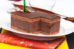 Chocolate cake with rum Stock Photo