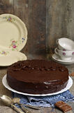 Chocolate cake ''Sacher'',austrian cuisine. Royalty Free Stock Photos