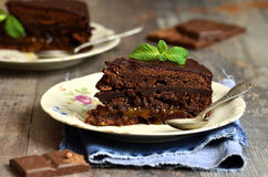 Chocolate cake ''Sacher''. Stock Photography