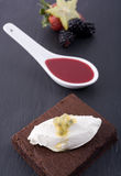Chocolate Cake and Sauce Royalty Free Stock Photo