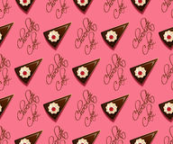 Chocolate cake seamless pattern Royalty Free Stock Photography