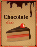 Chocolate Cake Sign Royalty Free Stock Photo