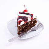 Chocolate cake slice Royalty Free Stock Photography