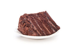 Chocolate cake slice Stock Images