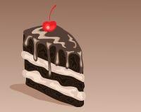 Chocolate cake slice Royalty Free Stock Images