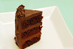 Chocolate cake standing up royalty free stock images